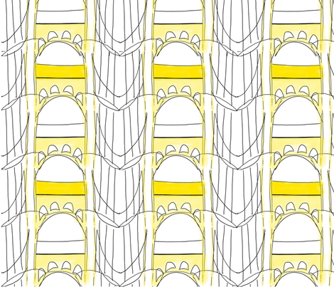 Pittsburgh Clemente Bridge fabric by ulterior on Spoonflower - custom fabric