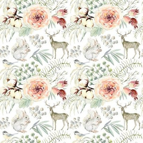"""4"""" Pearl Winter Woodland // White"""