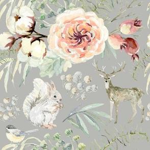 "8"" Pearl Winter Woodland // Gray Nickel"