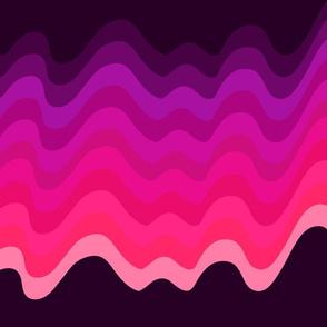 Pink Gradient Wave