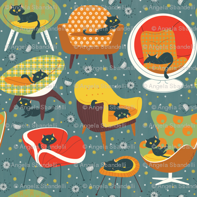 '60s cats and chairs