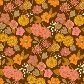 Botanical Blooms {Gold/Brown}