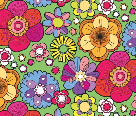 1960s floral fabric by lisahilda on Spoonflower - custom fabric