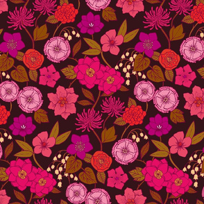 Botanical Blooms {Cerise/Wine}