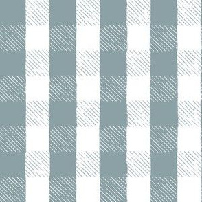 Dusty Turquoise Inky Gingham // Hand Drawn Details // Sing for Your Supper Modern Farmhouse Collection