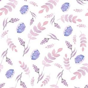 """8"""" Purple Florals"""