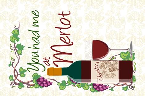 Wine Tea Towel fabric by fiber_ink_design on Spoonflower - custom fabric