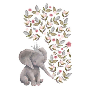 "18""x18"" 6 to 1 Yard of Minky Baby Elephant"