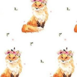 """4"""" Floral Fox Wild One"""