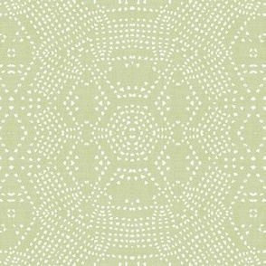 FRENCH LINEN MOSAIC LT GREEN