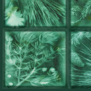 pine tree needles cones shawl curtains-green