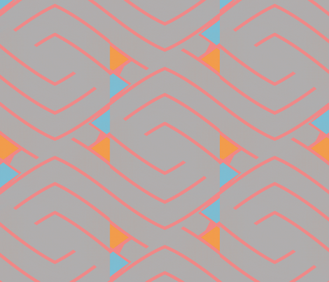 Milagro Pac (Millenial) fabric by david_kent_collections on Spoonflower - custom fabric