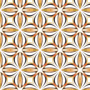 Pumpkin Spice Spirograph Tile