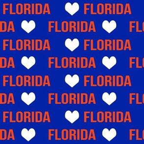 florida love - florida, state, usa, sunshine state, gators, blue and orange