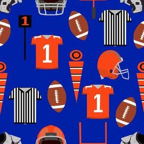 blue and orange football - american football, sport, sports, florida fabric