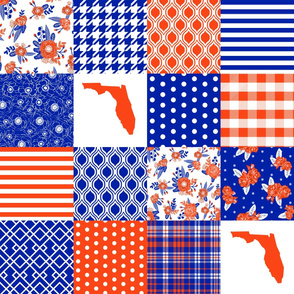 florida quilt - florida blue and orange state of florida quilt
