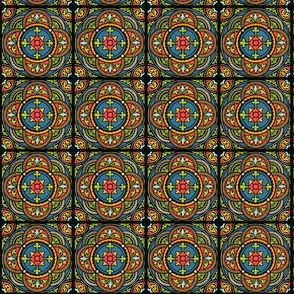 Romanesque Stained Glass Mosaic Tile