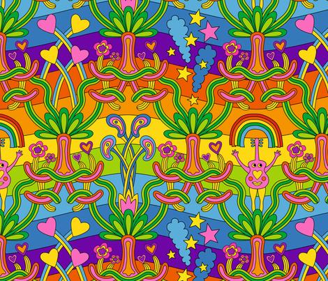 1960s Hanging Gardens fabric by pinkdeer on Spoonflower - custom fabric