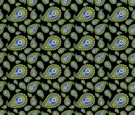 DaisyPaisley fabric by stardusted_hearts on Spoonflower - custom fabric
