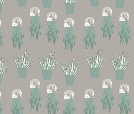 Upside-Down-and-Right-Side-Up-beige fabric by harmonycornwell on Spoonflower - custom fabric