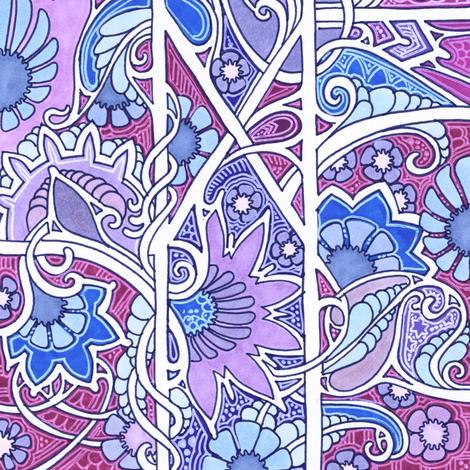 Red + Blue = Purple fabric by edsel2084 on Spoonflower - custom fabric