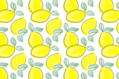 lemons fabric by printscharming on Spoonflower - custom fabric