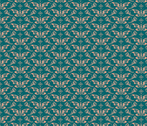 Butterfly Floral fabric by gabfdesigns on Spoonflower - custom fabric