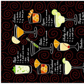 Classic Cocktail Tea Towel
