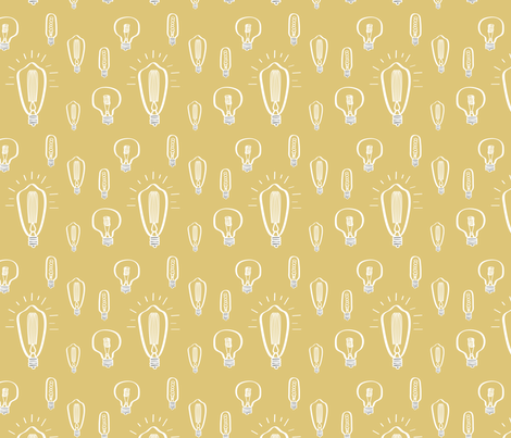 Hand-Drawn Bulbs on Marigold fabric by huffernickel on Spoonflower - custom fabric
