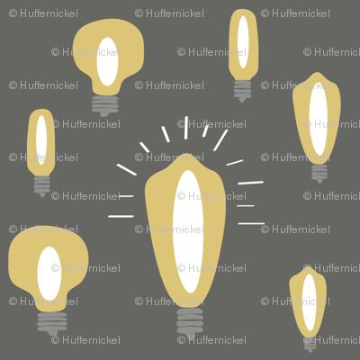 Hand-Drawn Bulbs White Center