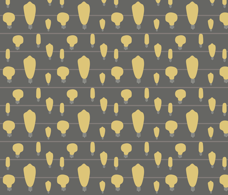 Hand-Drawn Bulbs With Stripes fabric by huffernickel on Spoonflower - custom fabric