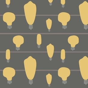 Hand-Drawn Bulbs With Stripes