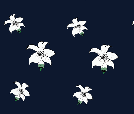 lily white fabric by kayla11 on Spoonflower - custom fabric