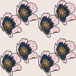 Poppy on cream