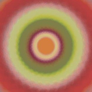 Generative Orange Candy Circles