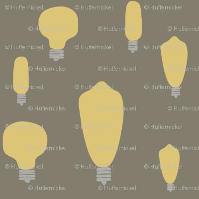 Hand-Drawn Bulbs on Taupe
