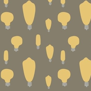 Hand-Drawn Bulbs on Taupe