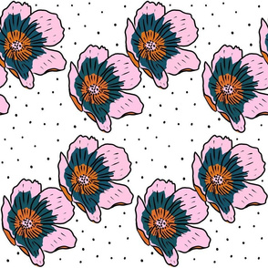 Poppies and polka dots