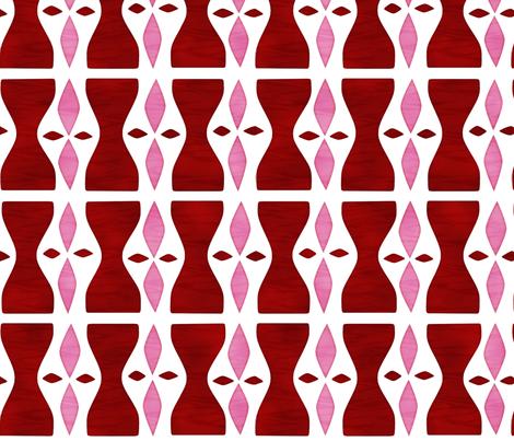 Hourglass Red fabric by beckarahn on Spoonflower - custom fabric