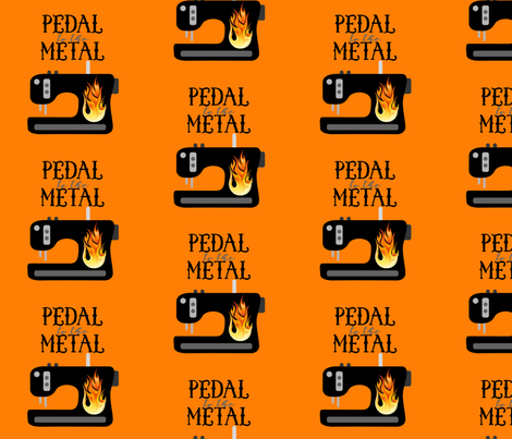 Pedal to the Metal - Orange fabric by craftystaci on Spoonflower - custom fabric