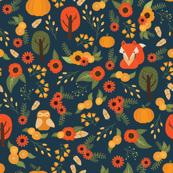 """foxy fall pattern { 4.5"""" pattern }"""