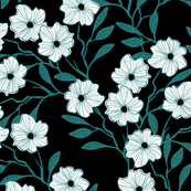 wildvines { black teal }