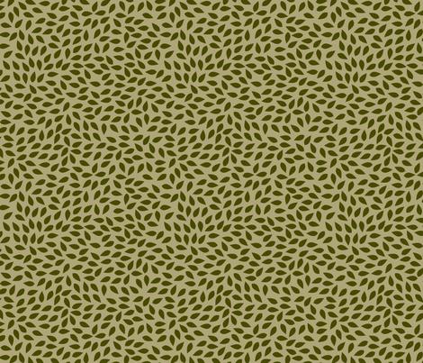 Leaf-sleepers-dark-leaf fabric by katherine_quinn on Spoonflower - custom fabric