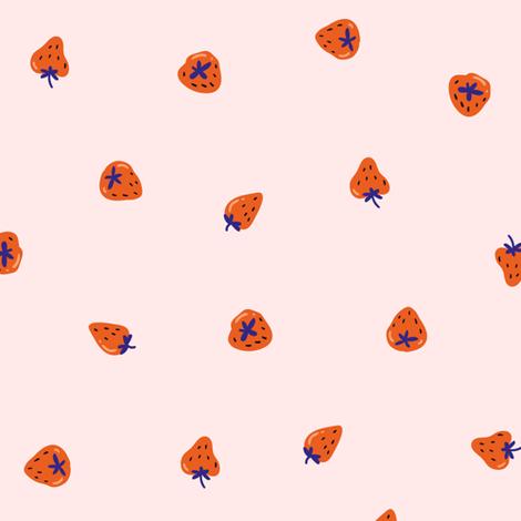 Strawberry dream fabric by alenkakarabanova on Spoonflower - custom fabric