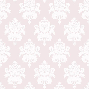"18"" Sweet summer blue vintage damask, damask fabric, english pink country, pink and white fabric"