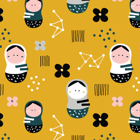 Matreshki fabric by yuliia_studzinska on Spoonflower - custom fabric