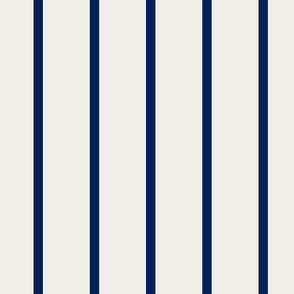 pintstripes in navy and off white