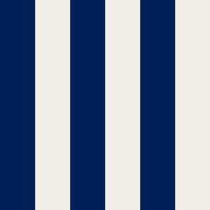 wide  large navy stripes