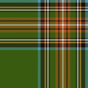 "King George VI / Green Stewart tartan,  8"" ancient"