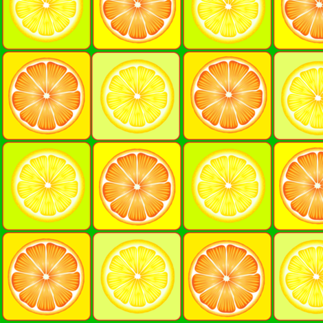 Oranges and Lemons Tiles fabric by fabric_is_my_name on Spoonflower - custom fabric